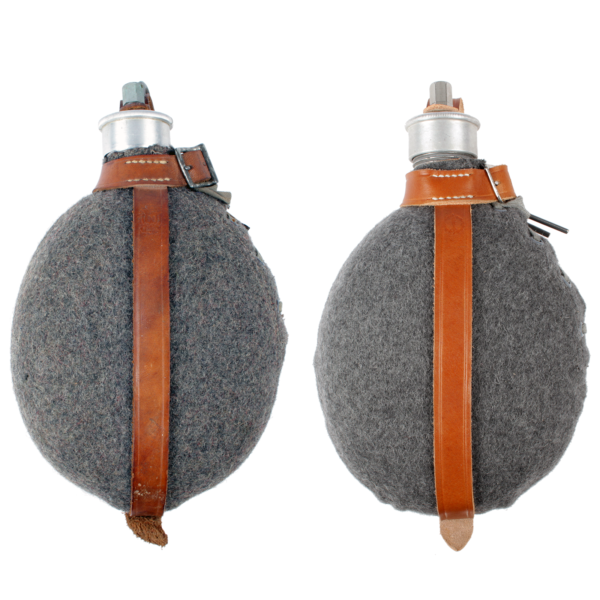 Field Bottle Cover, 1936 Pattern, original and reproduction comparison, front