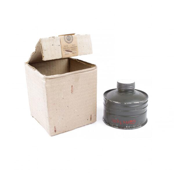 Finnish m/38 training gas mask filter
