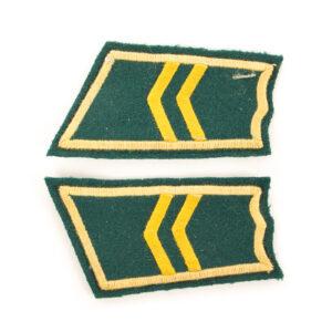 M/36-39 Collar Tabs, Jaeger Troops Corporal