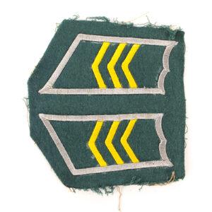 M/36-39 Collar Tabs, Infantry Sergeant