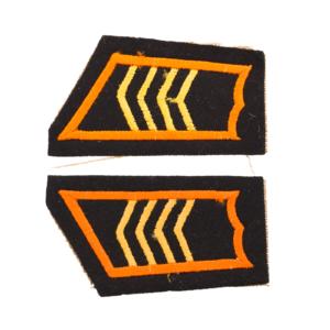 M/36-39 Collar Tabs, Armor Troops Staff Sergeant