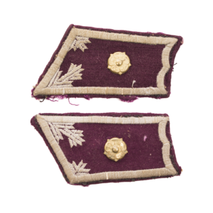 M/36-39 Collar Tabs, Engineer Troops Second Lieutenant