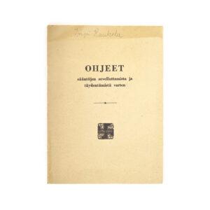 Lotta Svärd Regulations Booklet, 1939