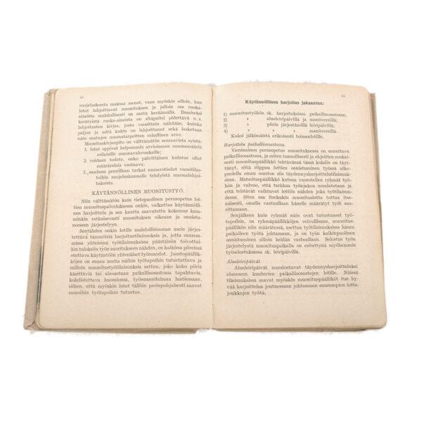 Lotta Svärd Catering Branch Regulations Book, 1932