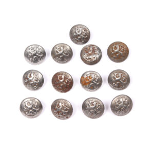 Coat of Arms Button Lot, Steel #11
