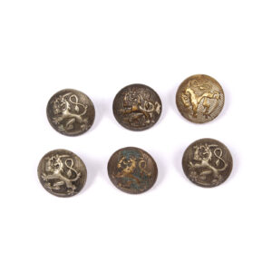 Coat of Arms Button Lot, Brass, Stamped #16