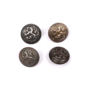 Coat of Arms Button Lot, Steel, Stamped #17
