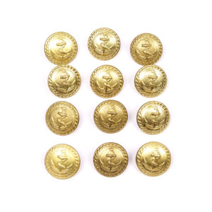 Anchor Button Lot, Brass #18