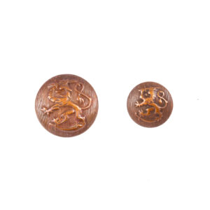 Copper Coat of Arms button, reproduction