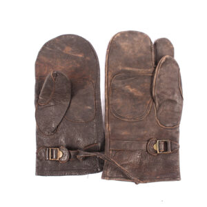 Finnish civilian leather mittens
