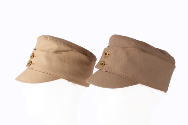 A pair of Finnish Civil War era field hats for the White Army.